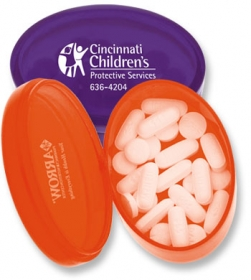 Promotional products: Oval pill box