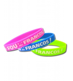 Promotional products: Imprinted silicone bracelet