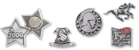Promotional products: Solid pewter lapel pins