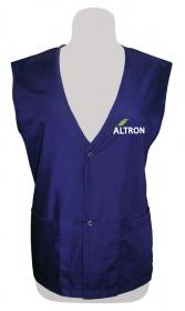 Promotional products: Poplin vest snap closure