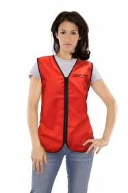 Promotional products: Poplin vest zipper closure