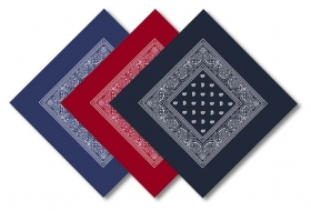Promotional products: Paisley bandana 22x22