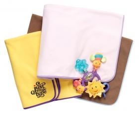 Promotional products: Fleece 2tone baby blanket 28x42