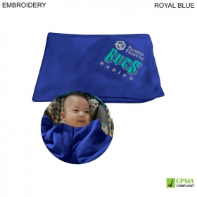 Promotional products: Fleece Baby Blanket 28x42, Embroidered