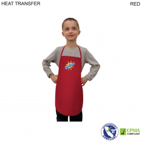 Promotional products: Kids Twill Bib Apron, 4 To 9 Years, Heat Transfer Or Blank