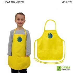 Promotional products: Kids Twill Bib Apron, 2 Pockets,4 To 9 Years, Heat Transfer Or Blank