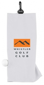Promotional products: Microfiber Suede White Golf Towel