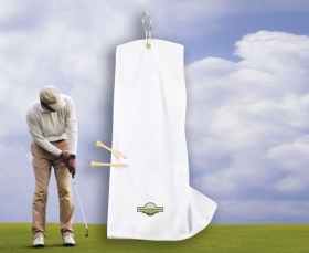 Promotional products: Microfiber Golf Towel 6x15