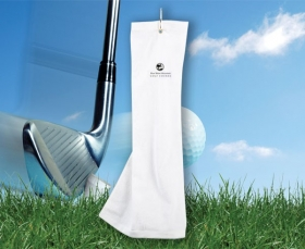 Promotional products: Microfiber Golf Towel 5x18