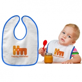 Promotional products: Velour Accent Baby Bib, 11x8