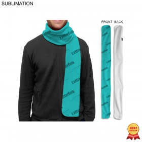 Promotional products: Sublimated fleece scarf, 6x60