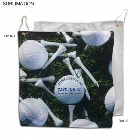 Promotional products: Microfiber Terry Golf Towel 15x15, Sublimated Or Blank