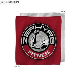 Promotional products: Microfiber Cooling Refresher Towel, 10x10, Sublimated Or Blank