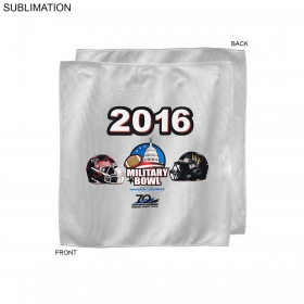 Promotional products: Bowl Game Rally Towel, 10x10, Sublimated Or Blank