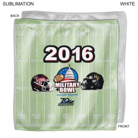 Promotional products: Full Bleed Bowl Game Rally Towel, 10x10, Sublimated Or Blank