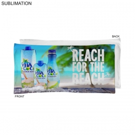 Promotional products: Sublimated Or Blank Microfiber Terry Pool Towel, 20x40
