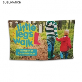 Promotional products: Sublimated Or Blank Polyester Banner, 48x30