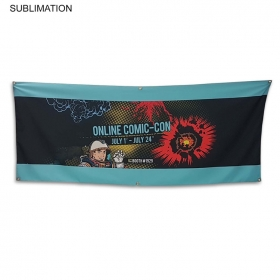 Promotional products: Sublimated Or Blank Polyester Banner, 72x30