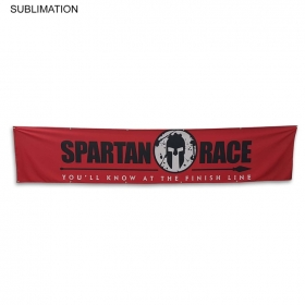Promotional products: Sublimated Or Blank Polyester Banner, 144x30