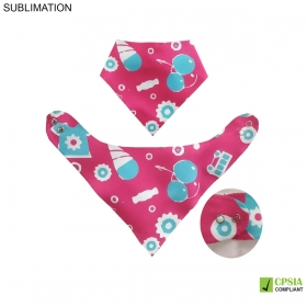 Promotional products: Sublimated Or Blank Bandanna Baby Bib