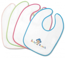 Promotional products: Velour Accent Baby Bib 11x8