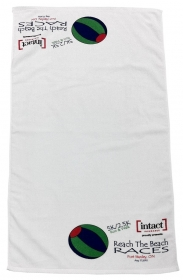 Promotional products: Velour White Towel 20x40