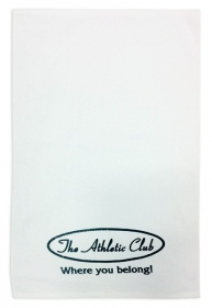 Promotional products: Velour White Towel 15x25