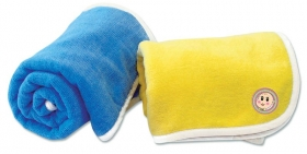 Promotional products: Velour Baby Bath Blanket