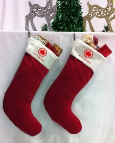 """Promotional products: Red Holiday Stocking 20"""" Long"""