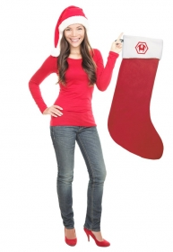 """Promotional products: Naughty Nice Stocking 36"""" Long 20 Colors"""