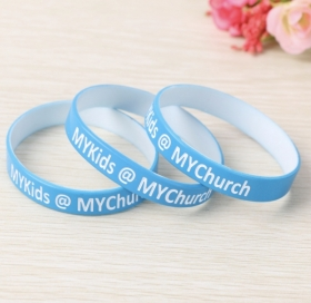 "Promotional products: 1/2"" Dual Color Silicone Wristband"