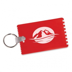 Promotional products: Credit Card Ice Scrapers with Key Ring
