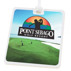 Promotional products: Rectangle Golf Tag - 4c Digital Imprint