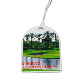 Promotional products: Oval Top Golf Tag - 4c Digital Imprint