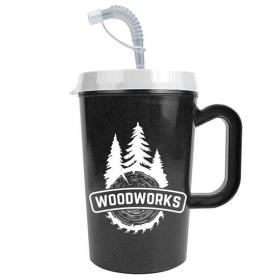 Promotional products: 22 Oz Insulated Mug With Straw