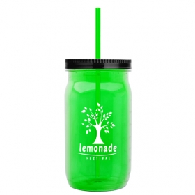 Promotional products: 27 Oz Tritan Mason Jar - Colors - Straw Lid