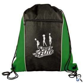 Promotional products: Drawstring Backpack with Zip Pocket