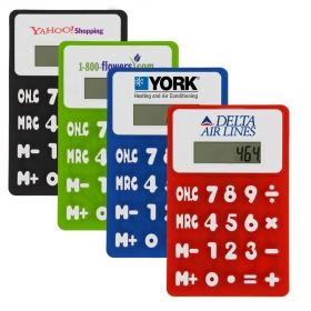 Promotional products: Small Rubbery Flexible Calculator