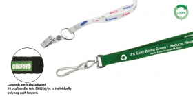 "Promotional products: 3/8"" Recycled Screen Printed Lanyard"