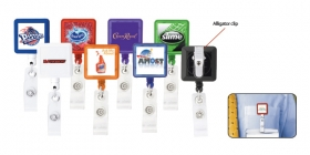 Promotional products: Square-Shaped Retractable Badge Holder