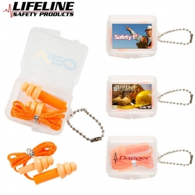 Promotional products: Silicone Ear Plugs With String