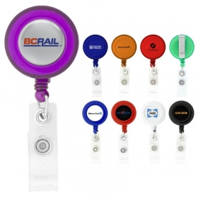 Promotional products: Round-shaped Retractable Badge Holder