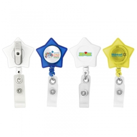 Promotional products: Star-shaped Retractable Badge Holder