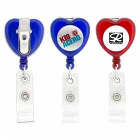 Promotional products: Heart-shaped Retractable Badge Holder
