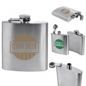 Promotional products: Stainless Steel Flask 6 Oz.