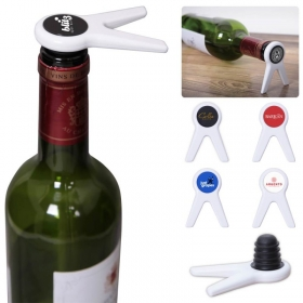 Promotional products: Standing Wine Bottle Stopper