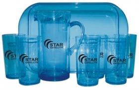 Promotional products: Acrylic 8 Piece Patio Set Transparent Blue