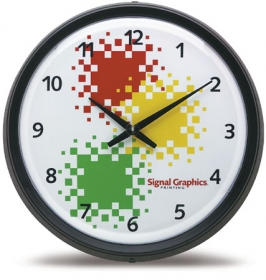 "Promotional products: 17"" titan wall clock"