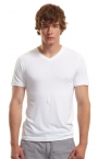 Promotional products: Bamboo slim fit v-neck t-shirt