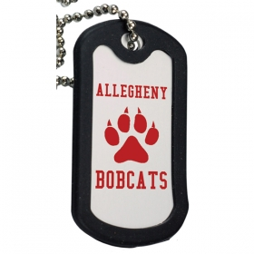Promotional products: Aluminum Dog Tag With Black Trim